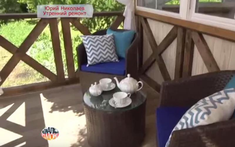 Дизайн террасы с открытой верандой для Юрия Николаева
