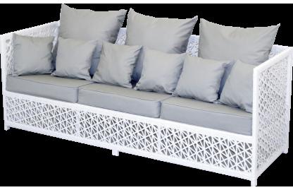 VEIL диван 3-местный из искусственного ротанга