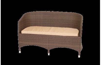 Плетеный двухместный диван из ротанга