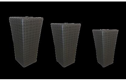 Grand комплект кашпо из искусственного ротанга