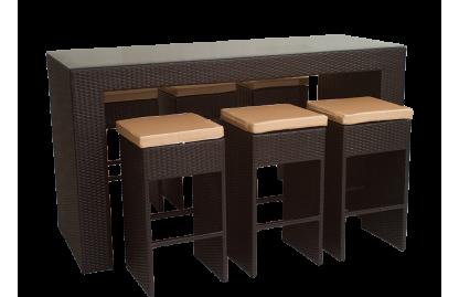 Pont комплект барный на 6 персон из искусственного ротанга
