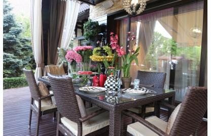 Turin стол обеденный прямоугольный из искусственного ротанга