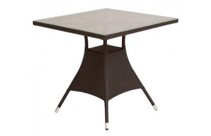 Verona2 стол квадратный обеденный из искусственного ротанга